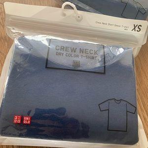 Crew Neck Short Sleeve T-Shirt #68 Blue